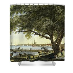 Port Of Philadelphia, 1800 Shower Curtain by Granger