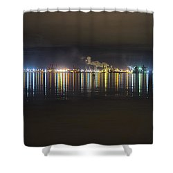 Port Of Tacoma Lights Shower Curtain