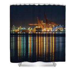 Port Of Vancouver In British Columbia Canada Shower Curtain by David Gn