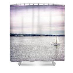 Port Townsend Sailboat Shower Curtain
