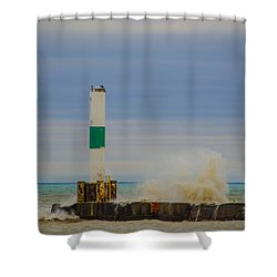 Port Washington Light 2 Shower Curtain