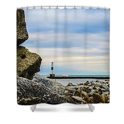 Port Washington Light 4 Shower Curtain