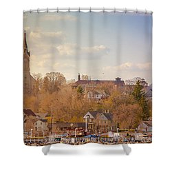 Port Washington Skyline Shower Curtain