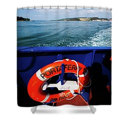 Portaferry Ferry Shower Curtain