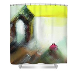 Shower Curtain featuring the painting Portal by Anil Nene