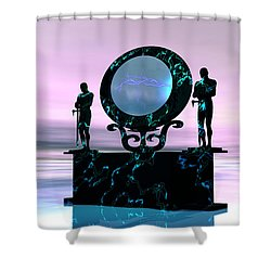 Portal Shower Curtain by Corey Ford