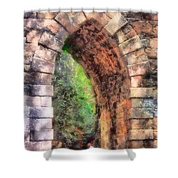Portal Into Summertime Shower Curtain
