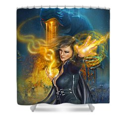 Portal Magician Shower Curtain