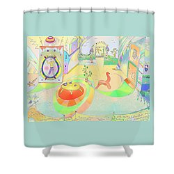 Portals And Perspectives Shower Curtain