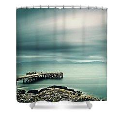 Portencross Pier Shower Curtain