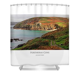 Shower Curtain featuring the digital art Portheras Cove by Julian Perry