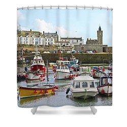 Porthleven Inner Harbour Shower Curtain