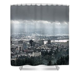 Portland After A Morning Rain Shower Curtain