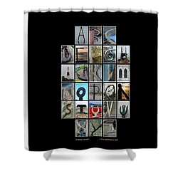 Portland Alphabet Shower Curtain