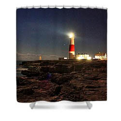Portland Bill Lighthouse Shower Curtain