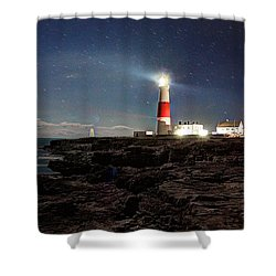 Portland Bill Lighthouse Uk Shower Curtain