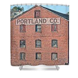 Portland Company Shower Curtain by Richard Bean