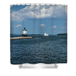 Portland Harbor, Maine Shower Curtain