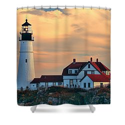 Portland Head Light-cape Elizabeth, Maine Shower Curtain