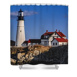 Shower Curtain featuring the photograph Portland Head Light No. 43 by Mark Myhaver