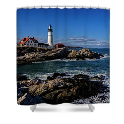 Shower Curtain featuring the photograph Portland Head Light No.32 by Mark Myhaver