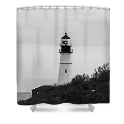 Portland Head Light Shower Curtain by Trace Kittrell