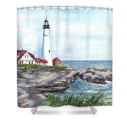 Portland Head Lighthouse Maine Usa Shower Curtain