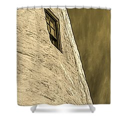Portland Head Lighthouse Window Detail Shower Curtain