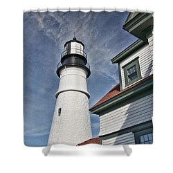 Portland Headlight Partial Shower Curtain
