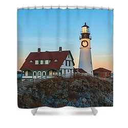 Portland Headlight V Shower Curtain