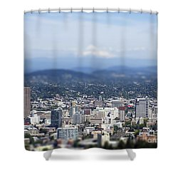 Portland In Perspective Shower Curtain