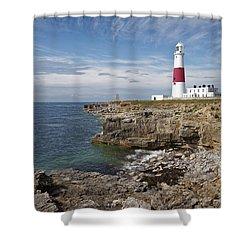 Portland Lighthouse Shower Curtain by Ian Merton
