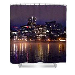 Portland Night Skyline Shower Curtain by Joseph Skompski