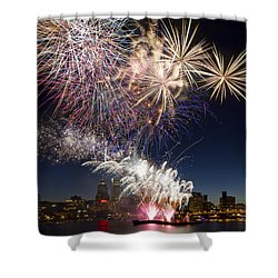 Portland Oregon Fireworks Shower Curtain by David Gn