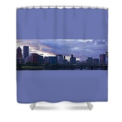 Portland Oregon Panorama Shower Curtain by Jonathan Davison