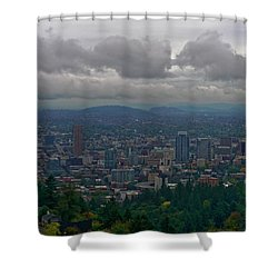 Shower Curtain featuring the photograph Portland Overlook by Jonathan Davison