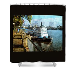 Portland Sunday Walk Shower Curtain