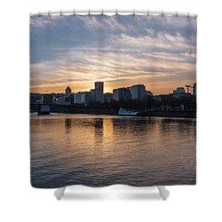 Portland Sunset Shower Curtain