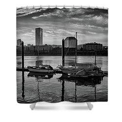 Portland Waterfront  Shower Curtain