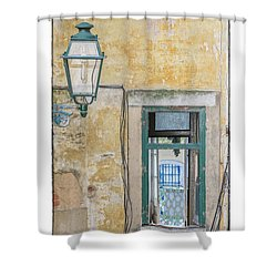 Porto Window Shower Curtain by R Thomas Berner