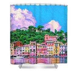 Portofino Shower Curtain by Dominic Piperata