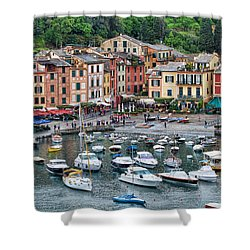 Portofino Harbor Shower Curtain