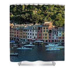 Shower Curtain featuring the photograph Portofino Morning Panoramic II by Brian Jannsen