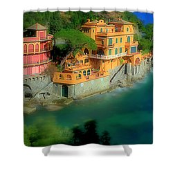 Portofino Park Bay Shower Curtain