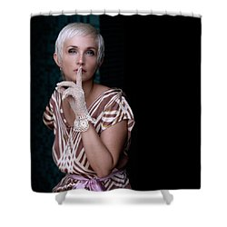 Portrait #4713 Shower Curtain