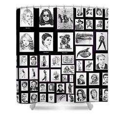 Portrait And Illustrations On Fine Art America Shower Curtain by Murphy Elliott