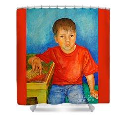 Portrait Andres Shower Curtain