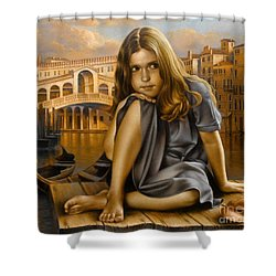 Portrait Shower Curtain by Arthur Braginsky