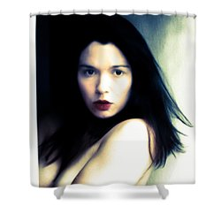 Portrait In Exotic  Shower Curtain