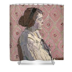 Portrait In Profile Shower Curtain by Harold Gilman